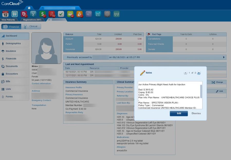 CareCloud Patient Insurance Verification